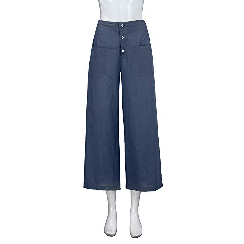tinta lino taglie Forti Pantaloni baggy Navy Svago kz2 Unita Donna Da Mambain Pantalone aT8Hn