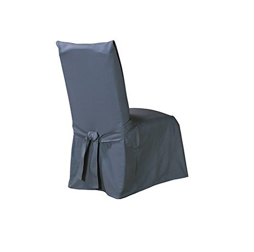 Cotton Dining Room Chair - SureFit Duck Solid, Dining Chair, Bluestone