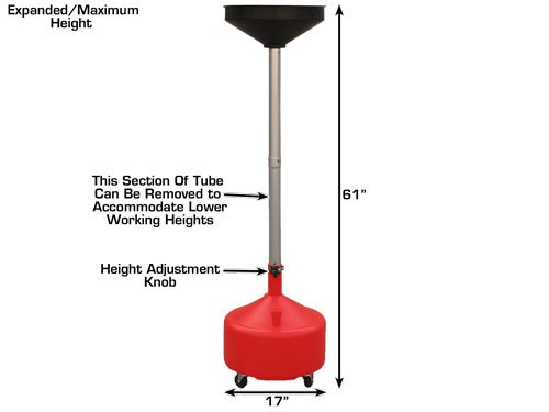 Dynamo DYOHTA30L Portable Plastic Oil Drain with Adjustable Funnel Height (8 Gallon) by Dynamo (Image #1)