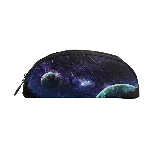 Laki-co Pencil Pouch Case Blue Night Sky Meteor Zippers Pen Bag Office Pen Holder Organizer Stationery Bag Cosmetic Bag School Supplies -