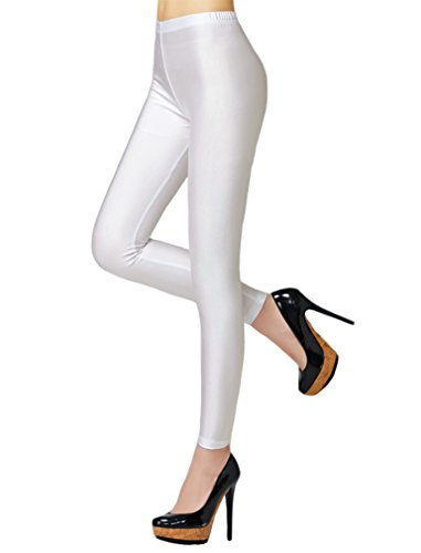 f6fb0dabc95 Swtddy Women s Fashion Shiny Nylon Stretchy Skinny Dance Leggings Pants (M