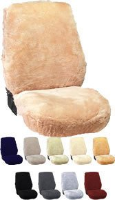Newport West Sheepskin Seat Covers Low Back Bucket Seats Synthetic Backed One Pair (2 Covers) ()