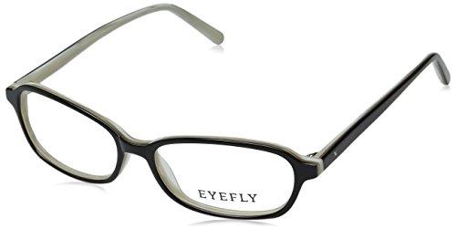 Eyefly Women's Lexington Avenue Oval Sunglasses, Black Horn, 53 - Eyewear Lexington