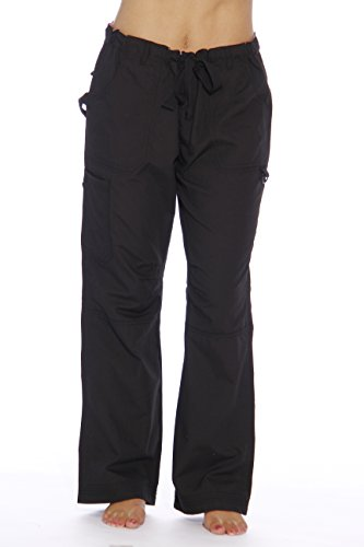 24000PBLK-32-L Just Love Women's Utility Scrub Pants / Scrubs (Halloween Scrubs)