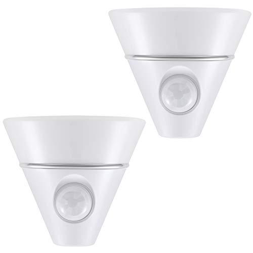 DEWENWILS Motion Sensor Night Light, Plug in LED Nightlight, Auto On/Off Night Lights for Adults, Warm White for Bathroom Hallway Living Room, UL Listed, 2 Pack