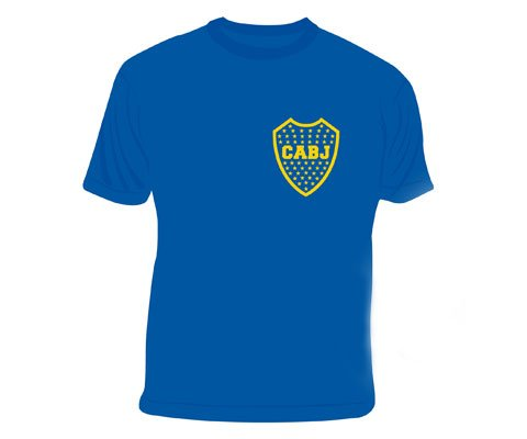 fan products of Boca Juniors official tee shirt blue logo