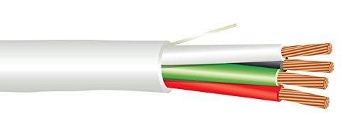Str Plenum - 22 AWG 4/C Str CMP Plenum Rated Non-Shielded Sound & Security Cable - 1000 Feet - EWCS Spec - Made in USA!