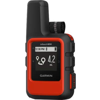 Garmin inReach Mini, Lightweight and Compact Handheld Satellite Communicator, -