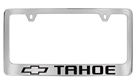 Amazon.com: Chevrolet Tahoe Chrome Plated Metal License Plate Frame ...
