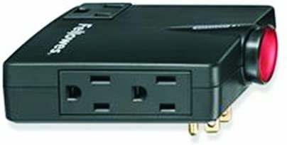Fellowes 3-Outlet Wall Mount Travel Surge Protector, Folding Plug, 540 Joules 9904701