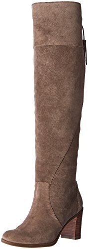Dr. Scholls Original Collection Womens Lydia Knee High Boot Brushed Nickel Suede/Leather