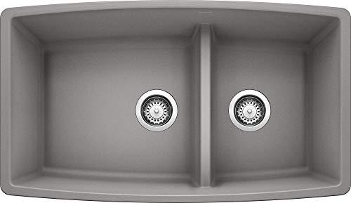 Blanco 441309 Performa 1.75 Medium Bowl Sink, Metallic Gray (Imports International Heights Citrus)
