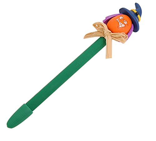 1KTon 0.5mm Ballpoint Pen Novelty Plastic Creative Halloween Soft Pottery Decorative for Office School Children Gift Stationery Supplies