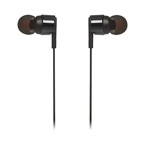 JBL T210 in-Ear Headphone in-Ear Headphone with One-Button Remote/Mic, Black