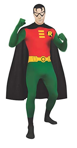 Rubie's Men's DC Comics 2nd Skin, Robin, X-Large -