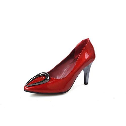 Balamasa Kvinners Utringede Overdel Metall Ornament Blandingsmaterialer Pumper-sko Røde
