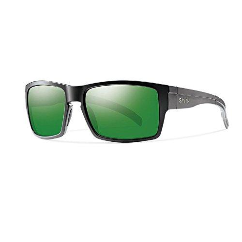 Smith Optics Outlier XL Sunglasses (Matte Black,Polarized Green Sol-X - Smith Outlier Polarized Sunglasses Xl