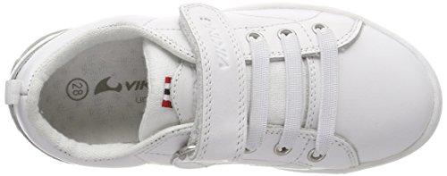 Viking Unisex-Kinder Smestad Sneaker Weiß (White 1)