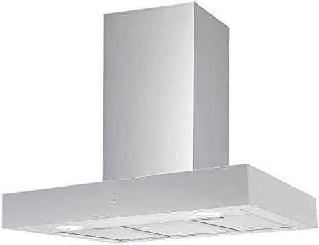 Potente Plasma filtro Campana, 60 cm, moderno acero inoxidable Touch Distancia y Eco LED Iluminación Krona Steel Rut 600 Inox 3P de S Plasma/Calidad inox Diseño T Forma de pared Campana/60 cm/Touch