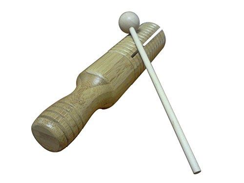 Rhythm Band Guiro Tone Block Bamboo Large ()