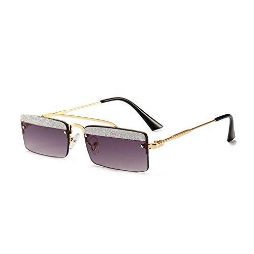 Brillantes Caja I Calle De Mujer Gafas De Sol De Gafas Metal Sol De Gafas De Pequeña De De Sol Gafas segundo Cejas Modelos JUNHONGZHANG q4fABXwxOw
