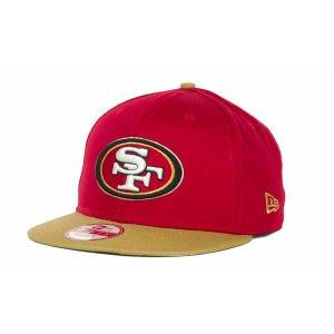 New Era 9fifty Baycik Snapback NFL San Francisco 49ers Hat Cap red/khaki (M/L) ()