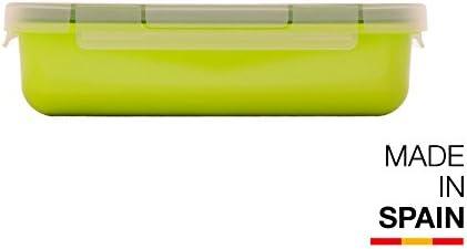 Valira Porta alimentos - Contenedor hermético de 0,5 L hecho en España, color verde: Amazon.es: Hogar