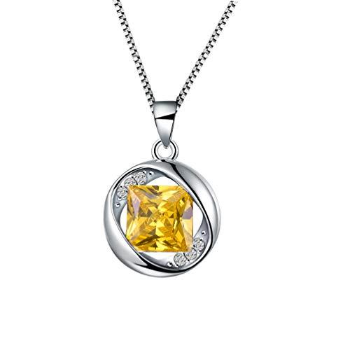Stones Aurora (Aurora Tears November Birthstone Pendants Women Crystal Birthday Necklace Round Birth Stone Jewelry for Kids/Girls/Grandma/Mom DP0029N)