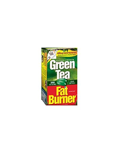 Applied Nutrition Green Tea Fat Burner with EGCG, 400mg ( 200 Soft gels (Egcg Green Tea)