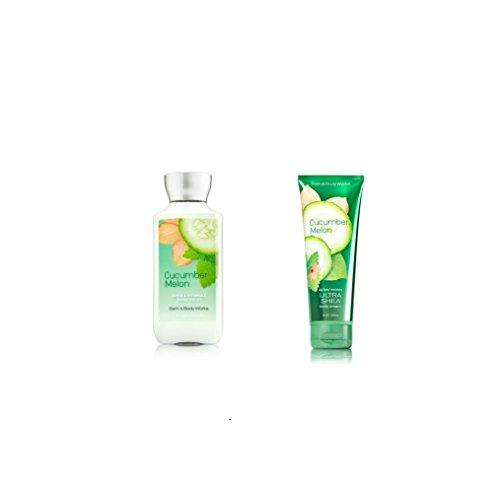 (Bundle Pack Bath Body Works CUCUMBER MELON Body Lotion & Body Cream Combo)