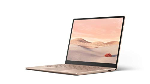 "Microsoft Surface Laptop Go Ultra-Thin 12.4"" Touchscreen Laptop (Sandstone) – Intel 10th Gen Quad Core i5, 8GB RAM…"