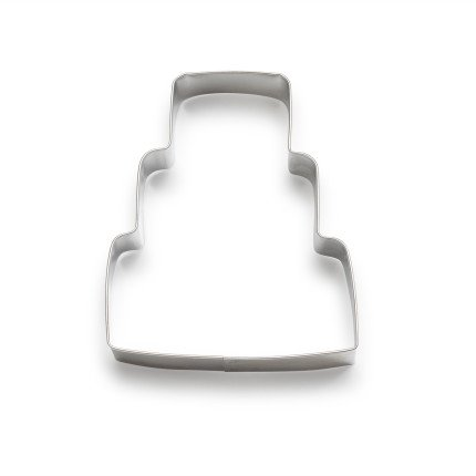 Ann Clark Wedding Cake Cookie Cutter - 4.25 Inches - Tin Plated Steel
