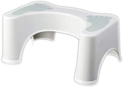 トイレスツールバスルーム厚手のプラスチックトイレシートスツールスツールスツールフットスツールはスツールとして増加 (Color : Blue)
