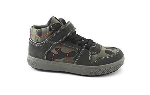 Cuir Militaires 2392400 Bébé Snatch Chaussures Gris Grigio De 31 35 Sneakers Primigi En wUqanx8U