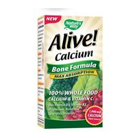 (Nature's Way Alive! Calcium Bone Formula Supplement (1,000mg per Serving), 120 Tablets, Pack of 2 )