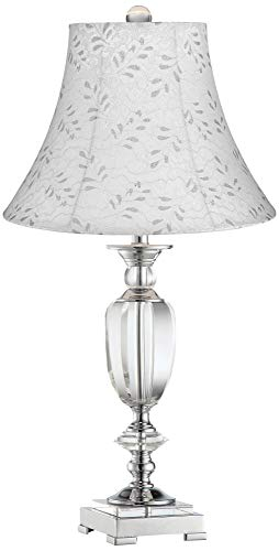 Beveled Crystal Urn Table Lamp with Off-White Leaf Shade - Vienna Full Spectrum ()