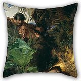 [Uloveme 16 X 16 Inches / 40 By 40 Cm Oil Painting Julius Kronberg - Nymph And Fauns Cushion Cases,both Sides Is Fit For Son,club,husband,coffee House,son,home] (Diy Faun Costume)