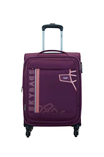 Skybags Polyester 58.5 cms Berry Purple Softsided Cabin Luggage (Wingman)