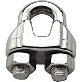 "Stanley National S850-842 Wire Cable Clamps, 5/16"", Stainless Steel"