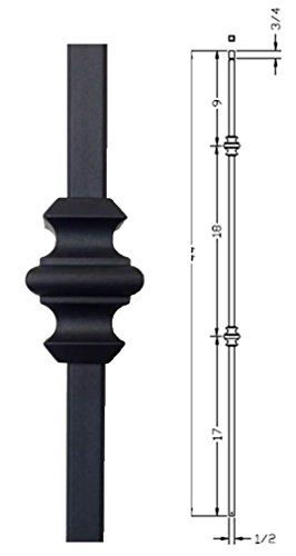 Hollow Metal Stair Baluster DOUBLE KNUCKLE 1/2