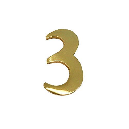 3 brass numbers - 6