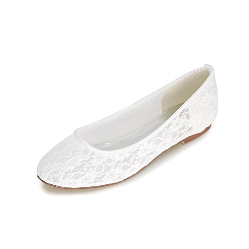 L@YC Women'S Wedding Shoes / Flat Shoes / Spring Summer autumn Lace Wedding & Evening Multi-Color Large Yards White M4aWu0
