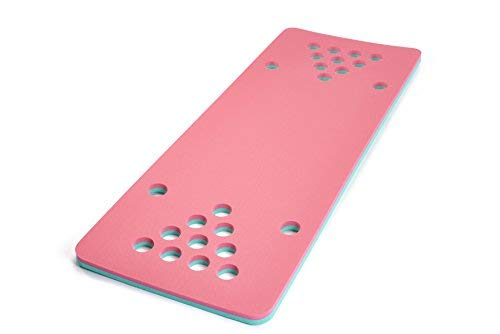 Floatation iQ HydraPong - Regulation Size Floating Beer Pong/Beirut Table and Pool Game - Made in the USA w/Durable (PE) Tear Resistant Foam (Pink/Turquoise) ()