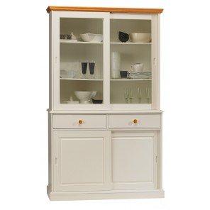 Schöne Möbel nicht lieben-Highboard weiß und Honig-Bibliothek 4-türig