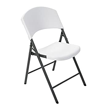 Lifetime Products 2810 Contoured Folding Chair, White