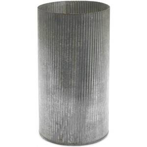 "Corrugated Metal Galvanized Zinc Cylinder Farmhouse Vase or Planter, 10.5"" tall. #farmhousedecor #metalvase #zinc #galvanized #corrugated #cylinder #vase #planter"