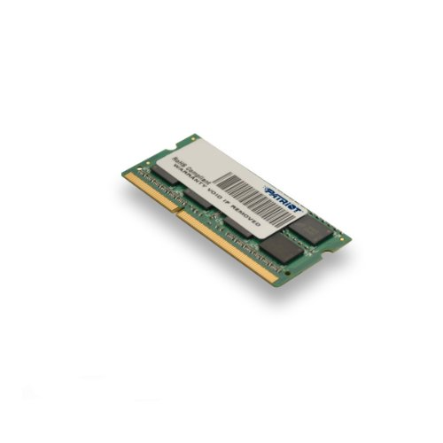 Patriot Signature DDR3 8 GB CL9 PC3-10600 (1333MHz) SODIMM 8 Not a kit (Single) 204-Pin SO-DIMM PSD38G13332S by Patriot