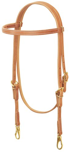 Weaver Leather ProTack Single-Ply Browband Trainer Headstall