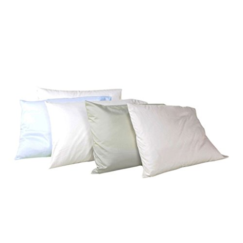 White Lotus Home OCP04 100% Cotton Sleep Pillow with Organic Sateen Outer Case, 20x30-Queen Soft, Natural
