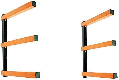 KASTFORCE KF1004 Lumber Storage Rack 3-Level System 110lbs per LevelDurable Sheet Metal Screws Wood Rack Workshop Rack